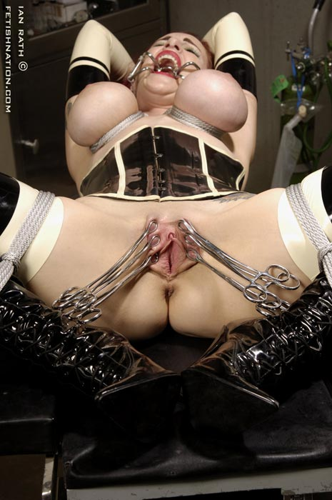Slave with dental gag extreme rough orgasm and pain 5
